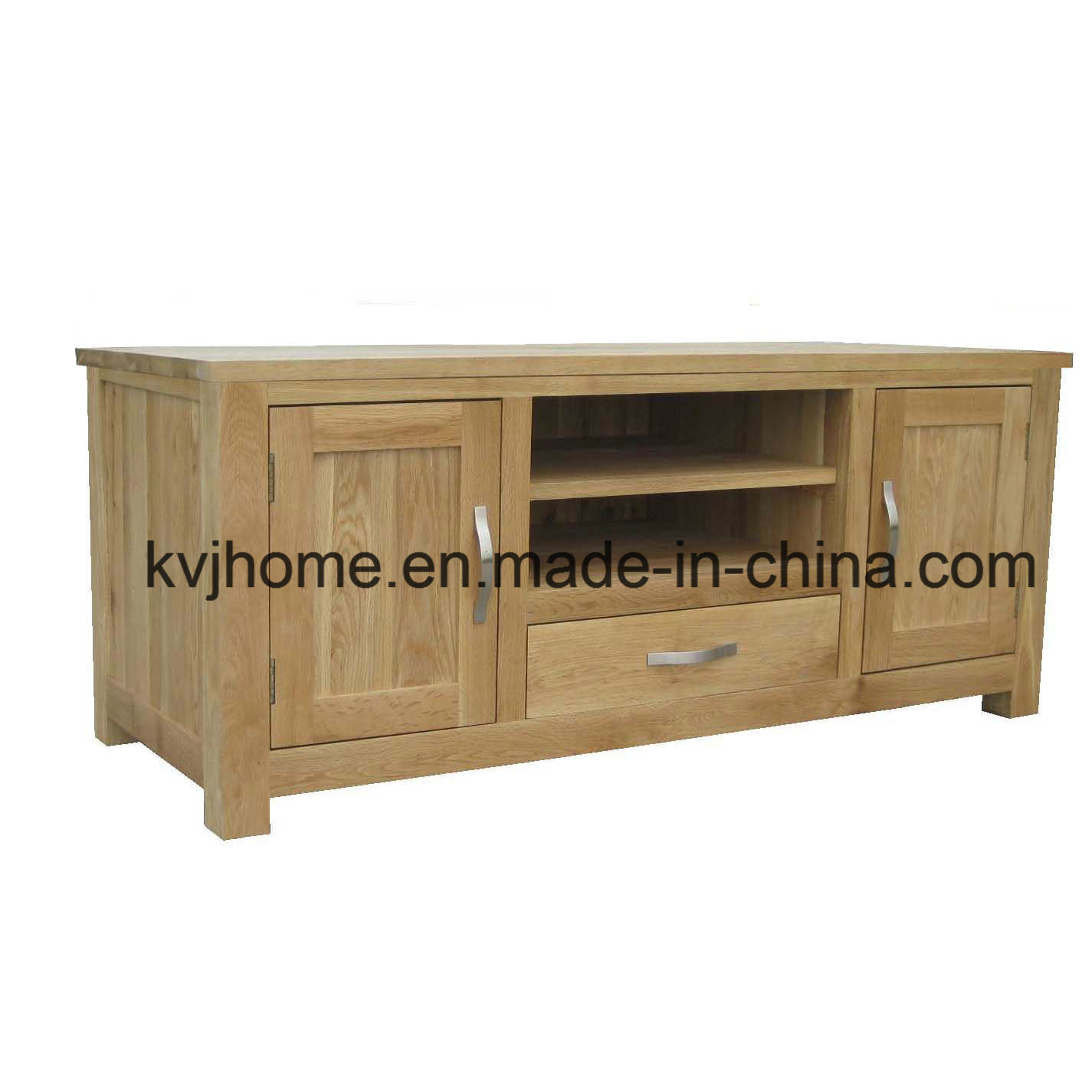 Living Room Solid Oak TV Cabinet (NIC-05)