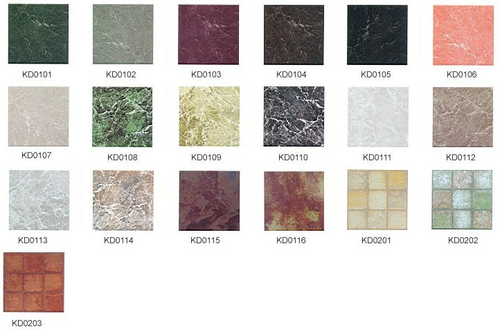 China PVC Flooring Stone Pattern Faced Tile