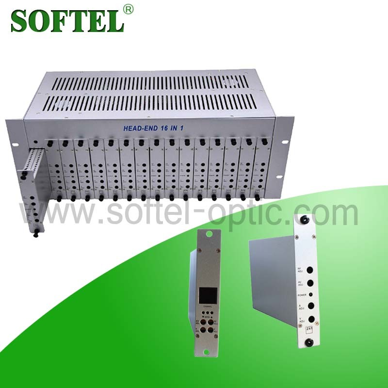 4u Rack CATV 16 in 1 Agile Modulator