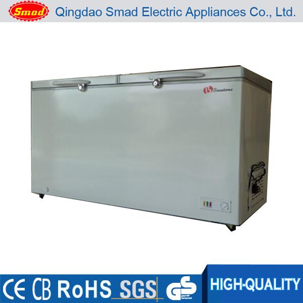 Top Open Double Door Deep Chest Freezer (BD438)