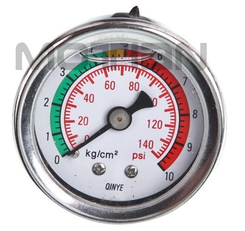 "1.5"" Glycerine Filled Stainless Steel Pressure Gauge"