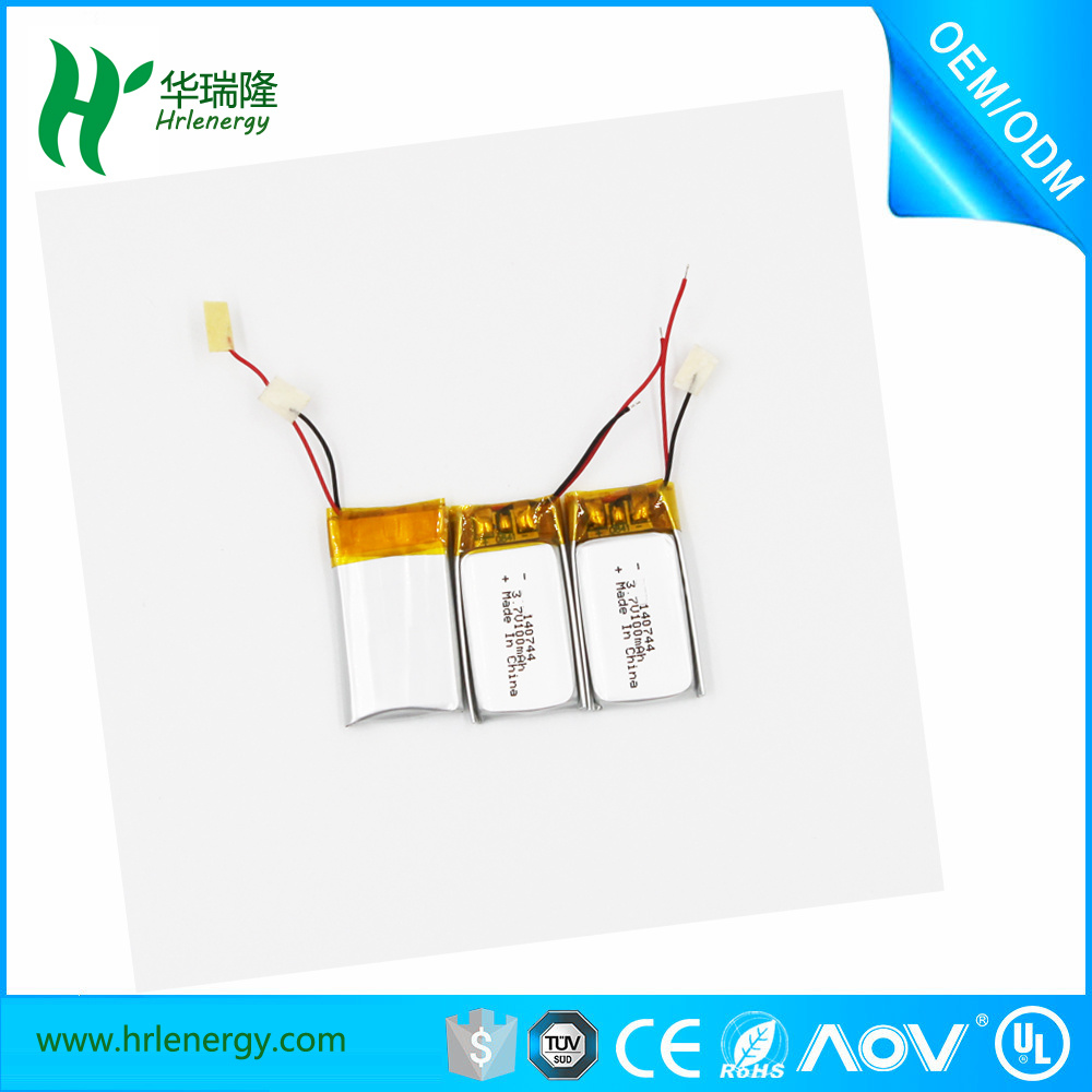 Professional Supplier Lithium Battery 100mAh 3.7V (140744)
