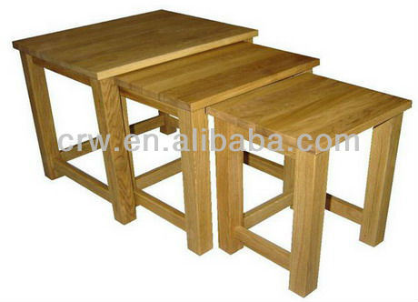 Design Space Saving Nesting Wooden Standard Export Packaging Tables