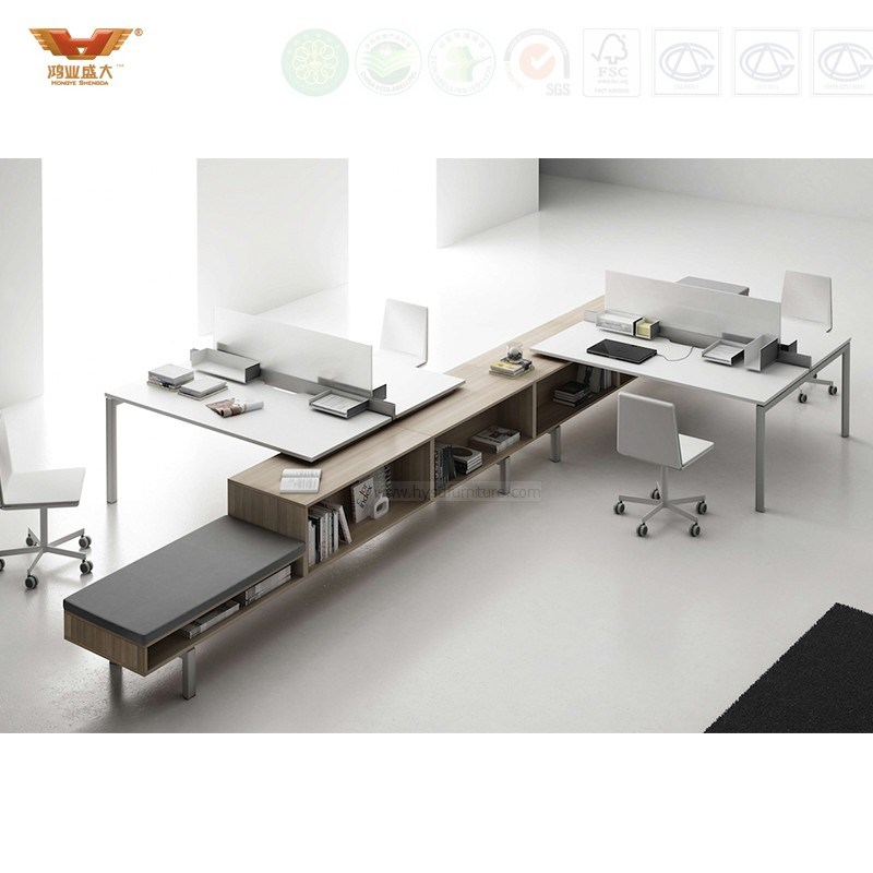 Fsc Forest Certified Office Furniture Modern Design Call Center Workstation Office Cubicle Office Partition Office Furniture (HY-246)