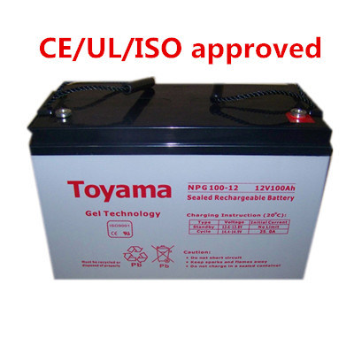 12V100ah Deep Cycle Gel Battery Sealed Lead Acid Npg100-12