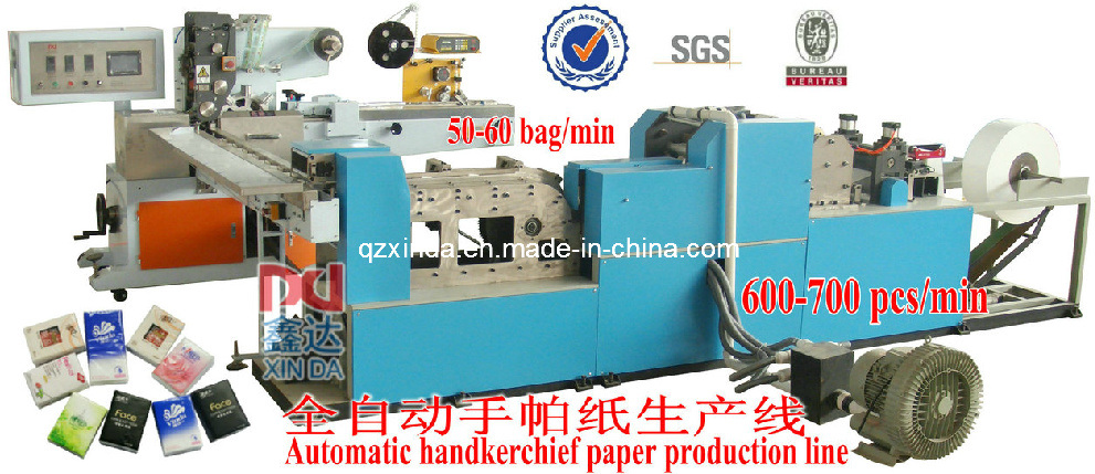 Mini Type Handkerchief Facial Tissue Machine Automtic Counting