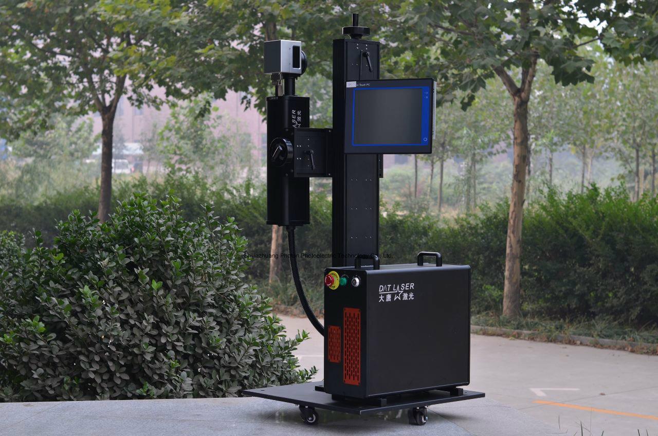 30W Ylpf-30A Fiber Laser Marking Machine for PP/PVC/PE/HDPE Plastic Pipe