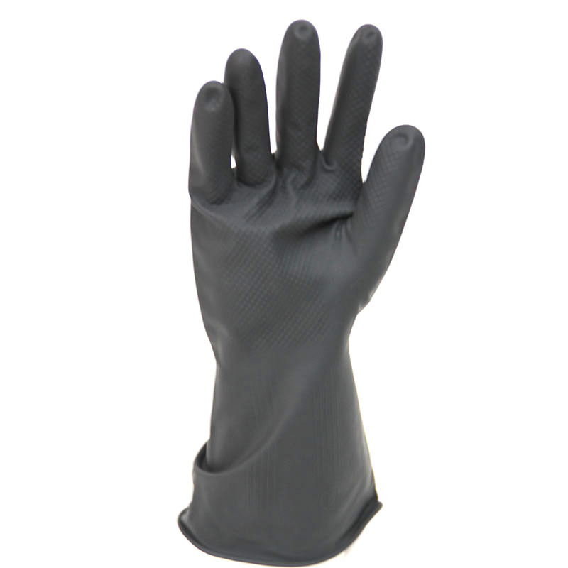 Industrial Rubber Heavy Duty Work Safety Gloves, Latex Glove.