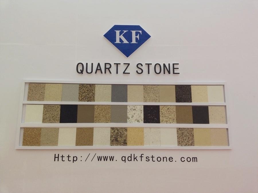 KF-023 White Galaxy Solid Surface Quartz Stone for Kitchen Countertop