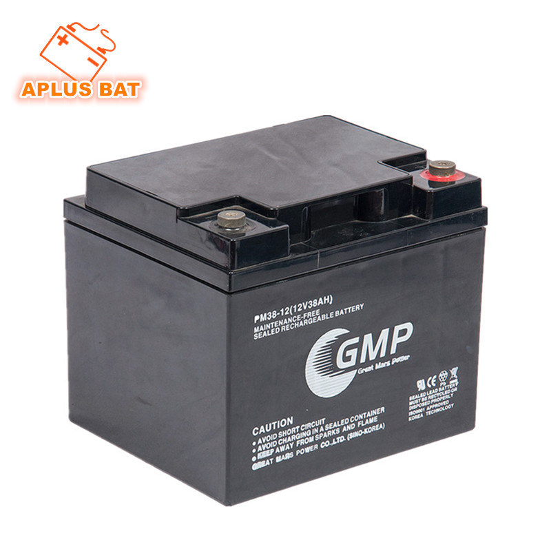 European Market Emergncy Power Solar Battery 12V38ah with Round Terminal