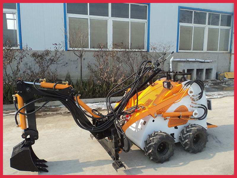 Mini Skid Steer Loader with Backhoe/Excavator