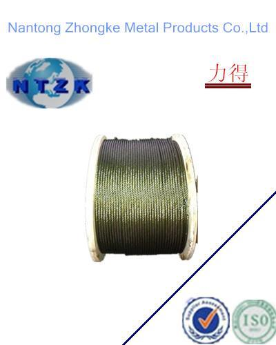 Ungalvanized Steel Wire Rope 6*19s with Heavy Grease