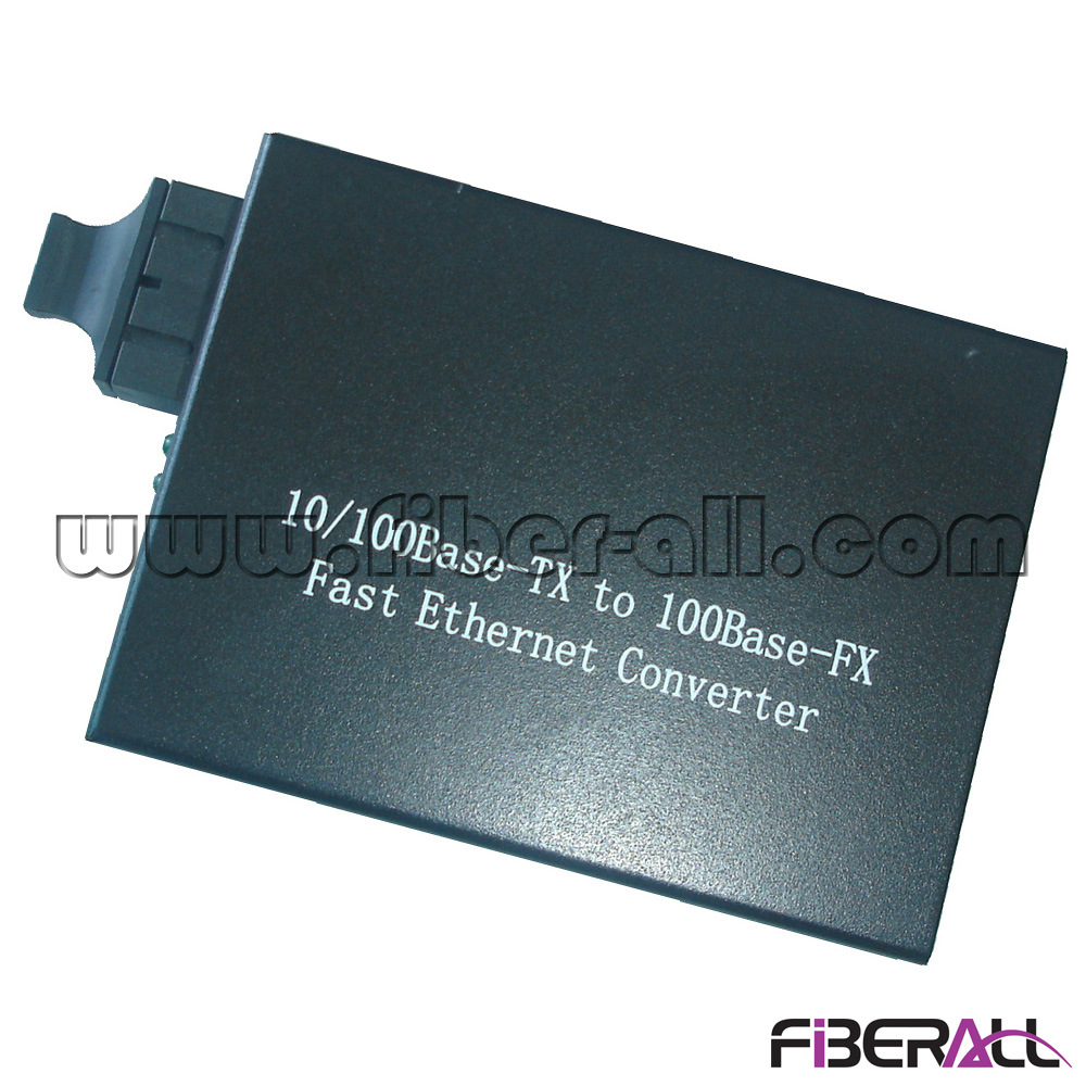 10/100m Fiber Optic Media Converter 1310nm 1X9 mm 2km External
