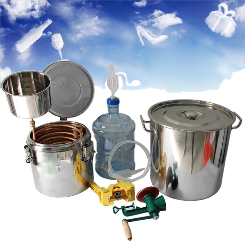 Kingsunshine 30L/8gal Home Use Beer Fermenting/Distillation Kits, Make a Barrel of Beer by Your Own Hand