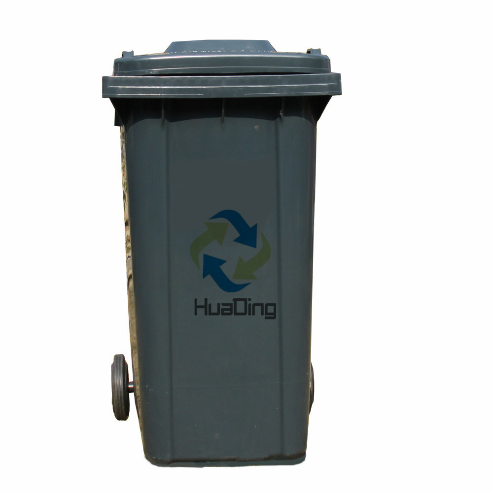 240L Plastic Garbage Bin Rubber Wheel for Outdoor