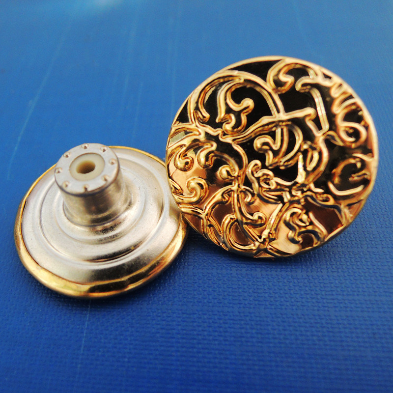 Jeans Brass Shank Button of Glod Color (SK00064)