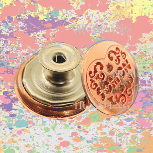Printing Jeans Metal Shank Button with Epoxy (SK00419)
