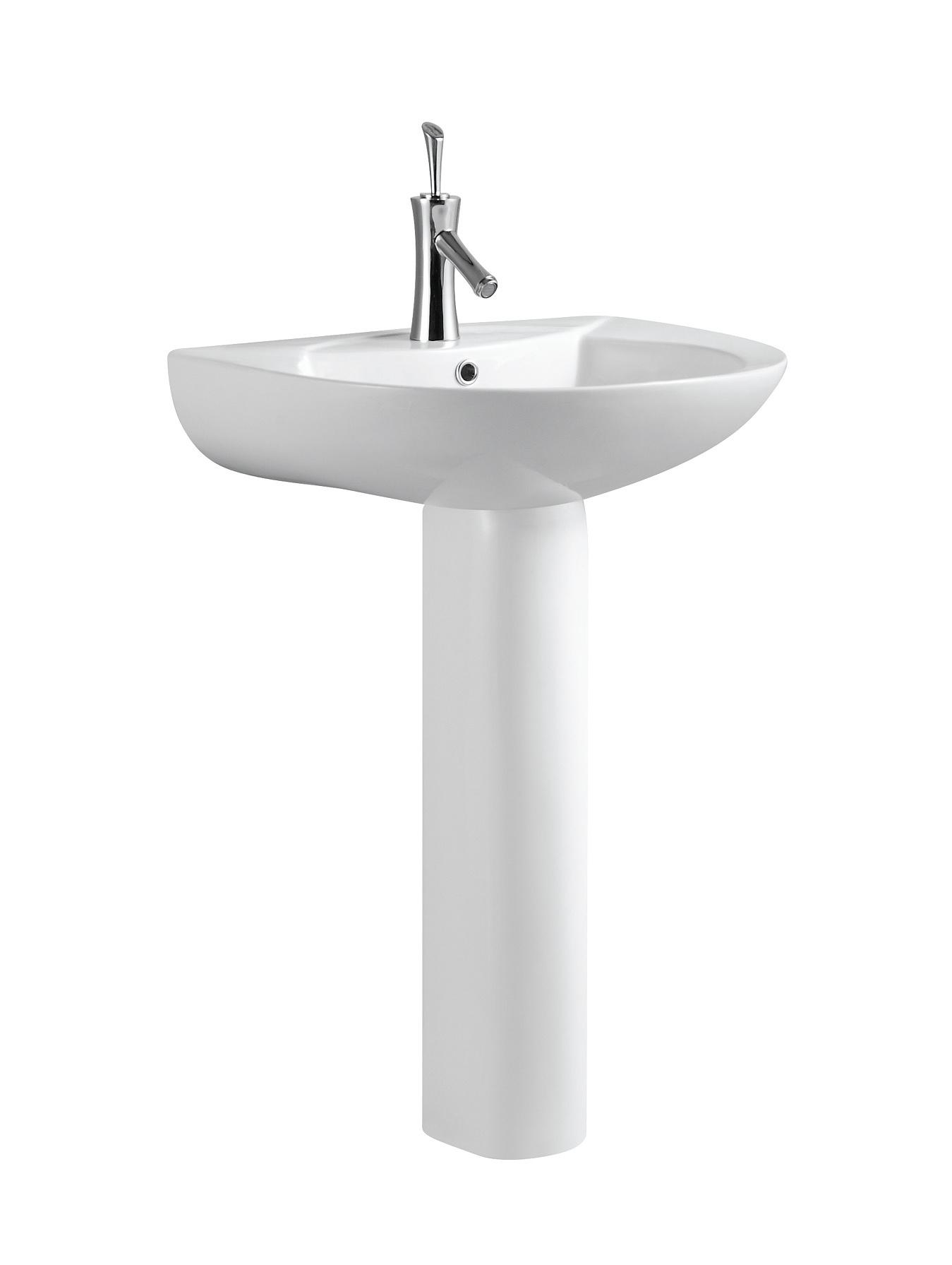 Pedestal Hand Basin : Wash Hand Basin With Pedestal C11067 - China Toilet Basin, Wash Basin
