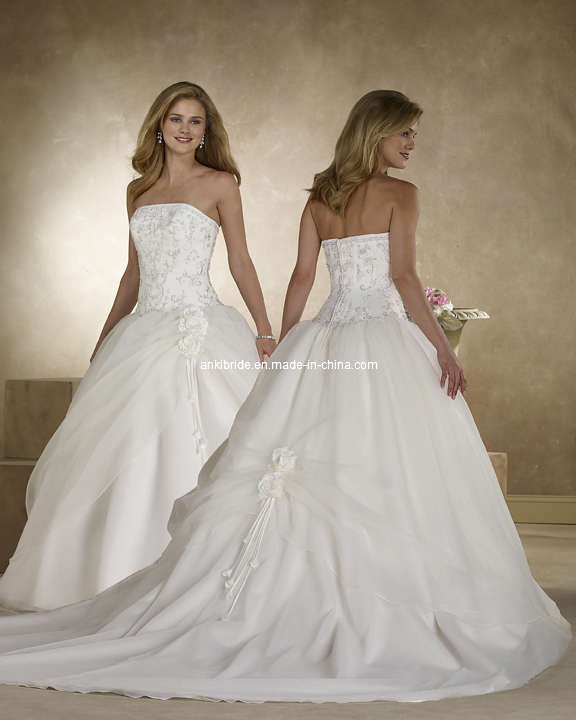 2011 New Arrival Strapless Princess Wedding Gown WDS5120