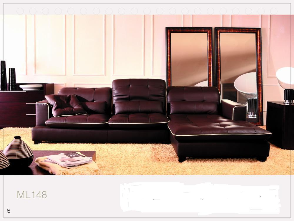 China leather sofa new design ml 148 china leather for China sofa design