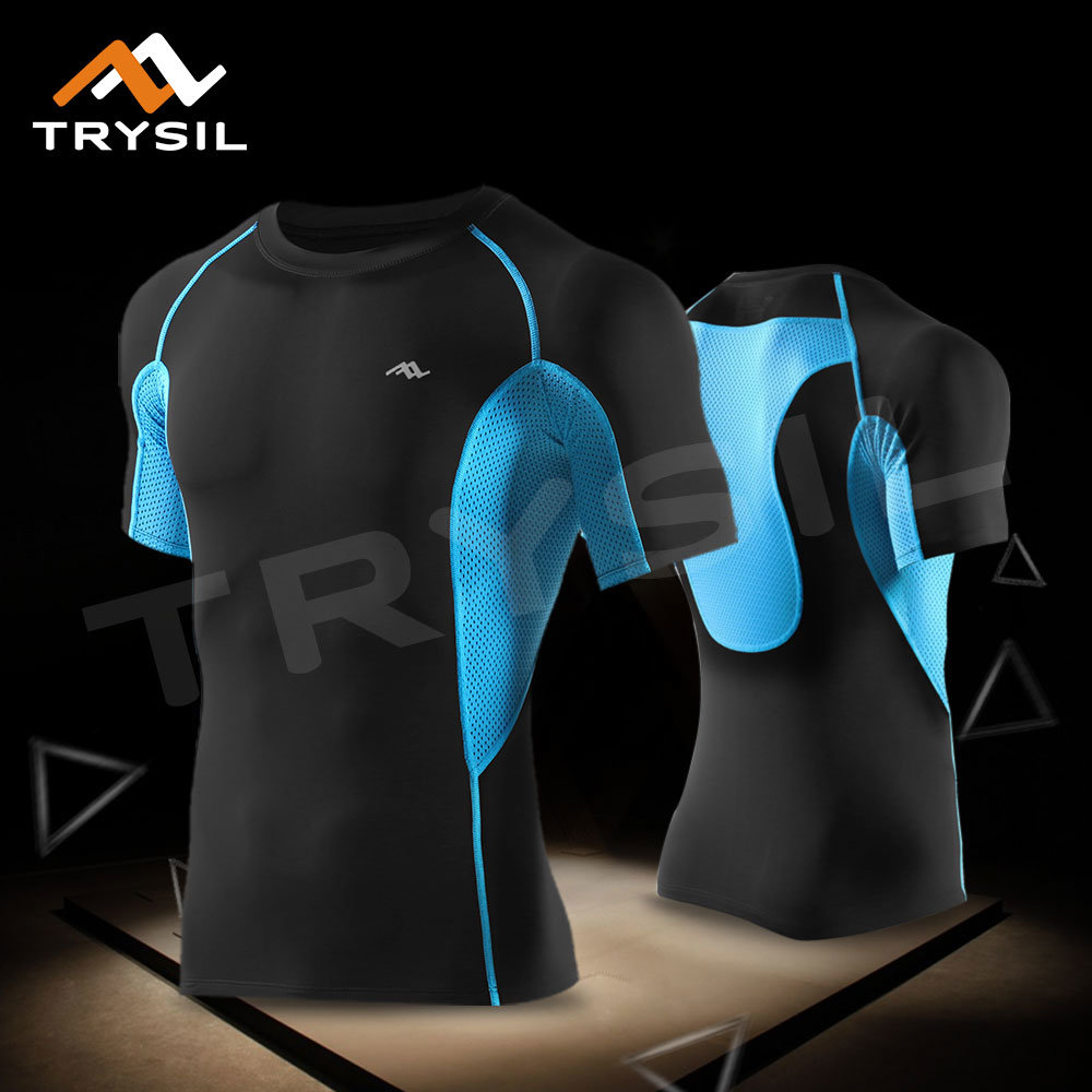 Men Cycling Shirts Compression Wear Sport Training Tops