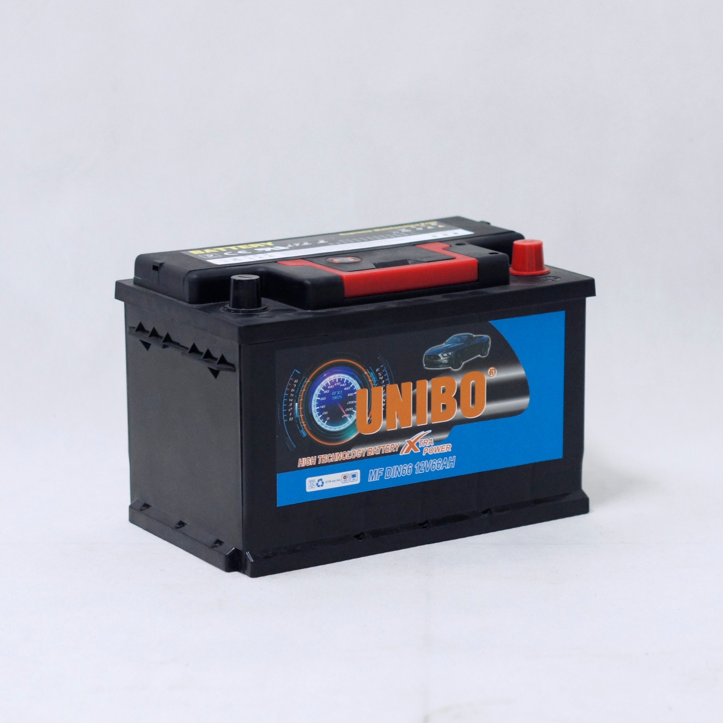 Maintenance Free Auto Battery DIN66 12V66ah High Performance Car Battery