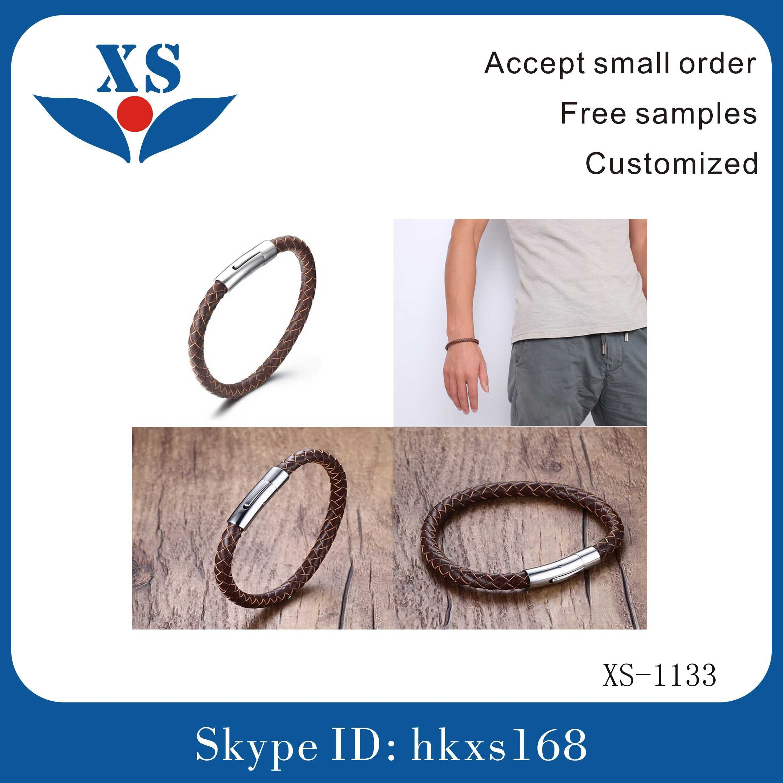 Wholesale Handmade Custom Leather Bangles
