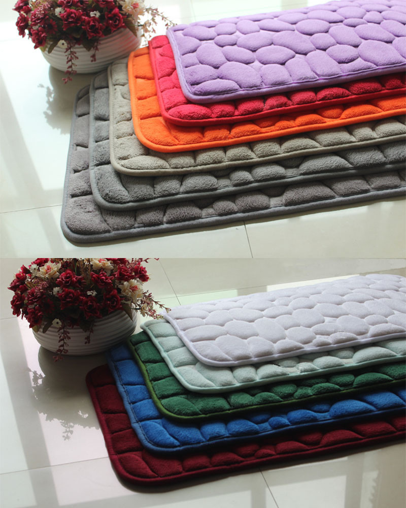 Polyester Memory Foam Anti-Slip Door/Floor/Area/Bath Carpet Mat/Rug
