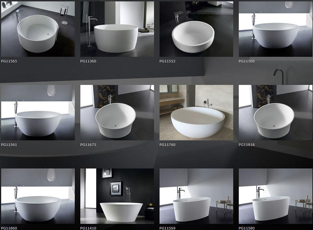 Round Shape Long Service Life Freestanding Bathtub Outside