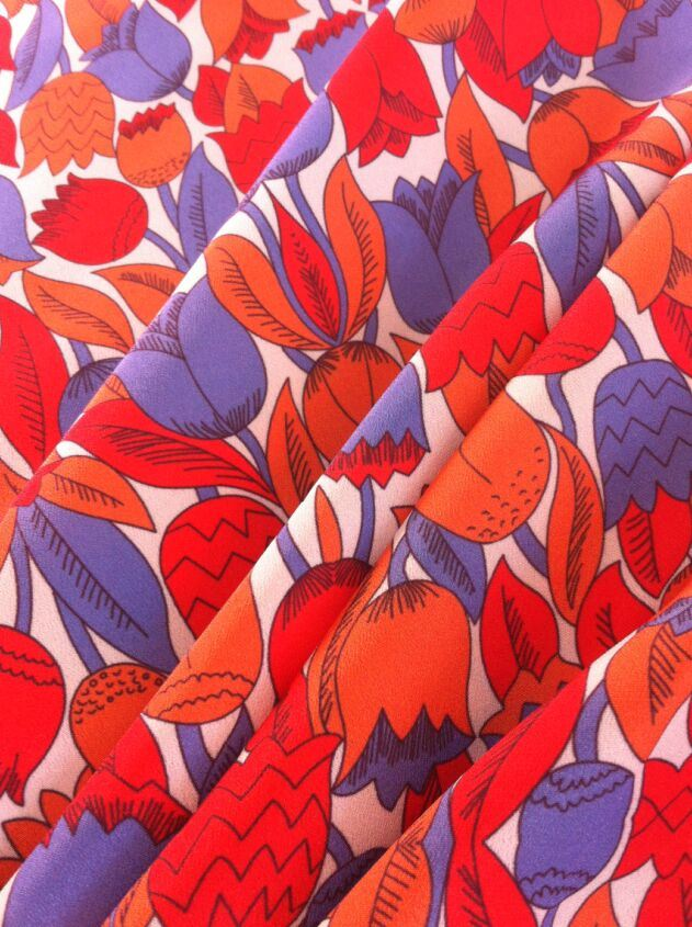 100% Polyester Crepe De Chine Printing Fabric for Blouse