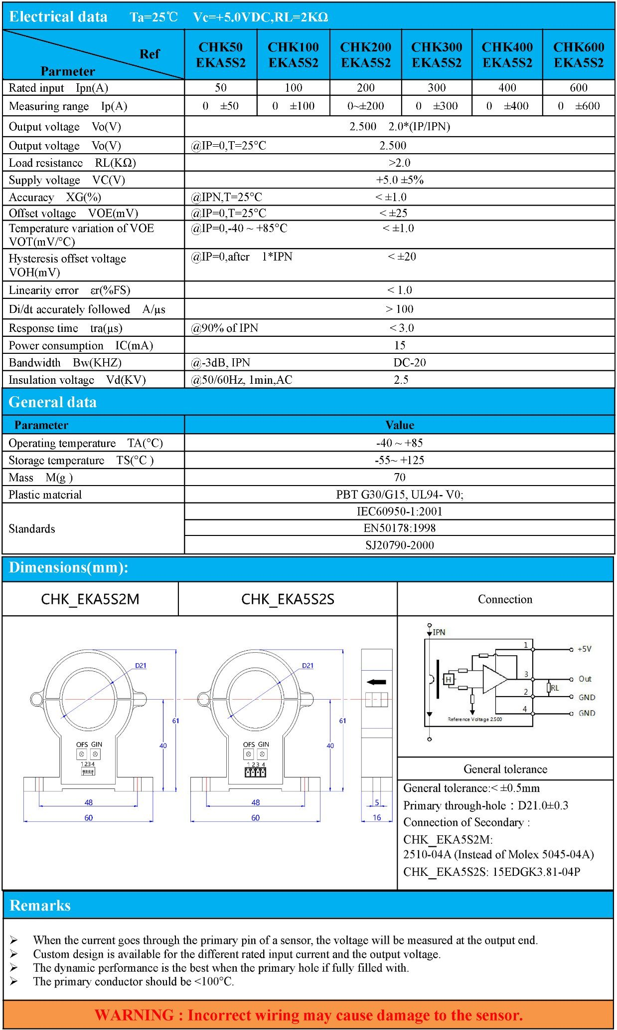Hall Current Sensor Dismountable Split Core Current Transducer