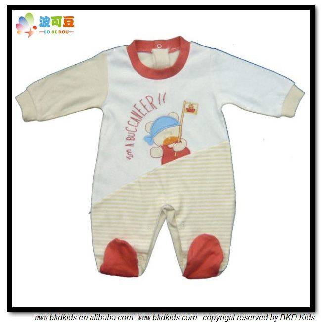 0-24m Baby Garment Combed Cotton Baby Grow