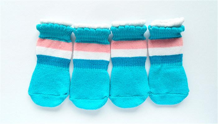 Lovely Lace Border Knitting Anti Skid Dog Shoes and Dog Socks