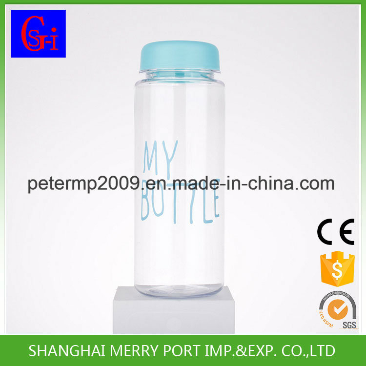 500ml Wholesale Clear Water Bottle, Factory Printed Plastic BPA Free Space Water Bottles
