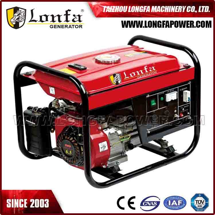 Portable Small 2.5kVA 6.5HP Gasoline Petrol Generator