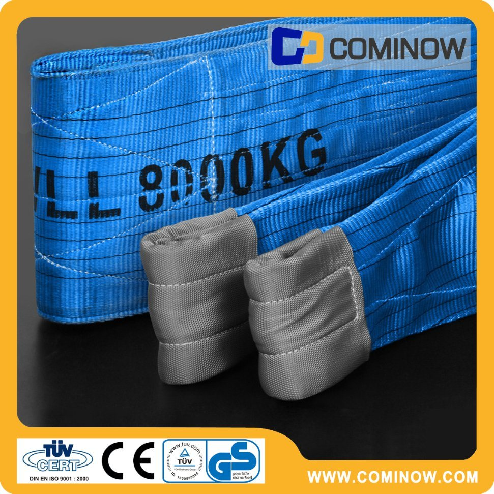 8t Polyester Webbing Sling in Blue Color (En1492-1) / Lifting Sling with Eyes