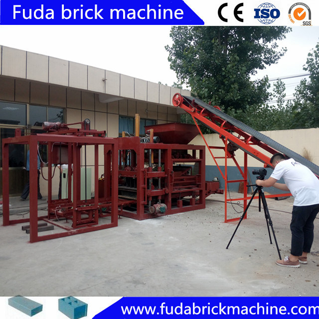 Automatic Concrete Square Paver and Habiterra Block Machine with Hydraulic