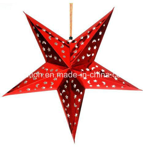 Festival Wedding RGB LED Light Star Paper Lanterns for Wedding