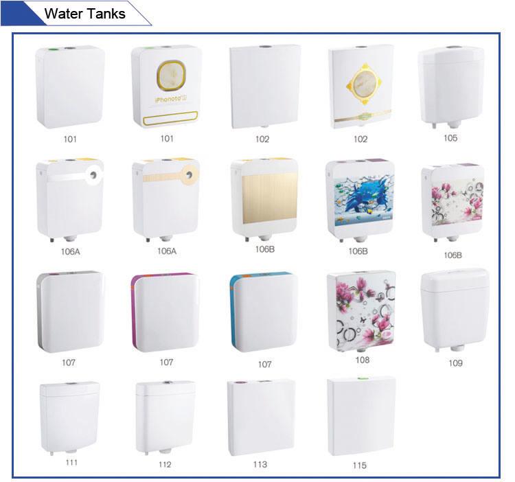 Jet-106A Dual Flush Custom Sticker Plastic High Level Cistern Toilet