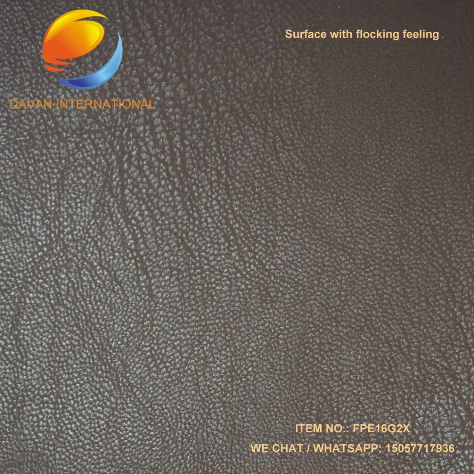 PU Coated Fabric Silky Flocking Surface Hand Hand Feeling
