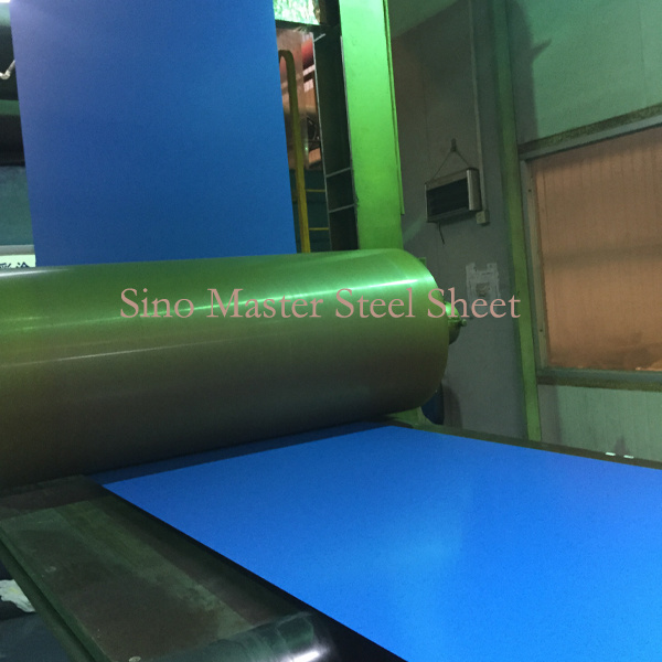 Blue Color Prepainted Galvanized Corrugated Roofing Material Steel Sheet