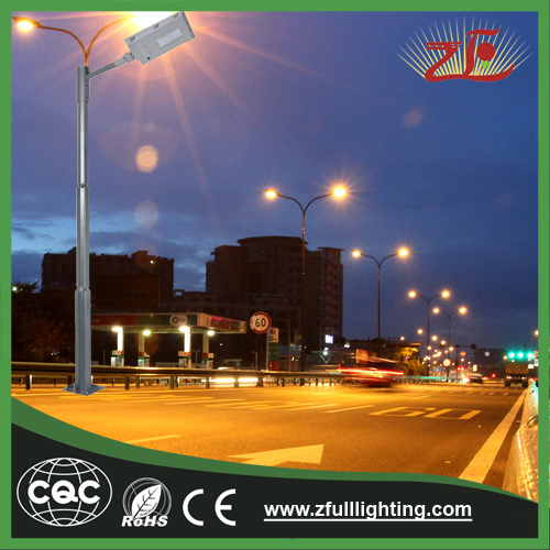 40W Die-Casting Aluminum All in One Integrated Solar Street Light Ce RoHS 2 Years Warranty