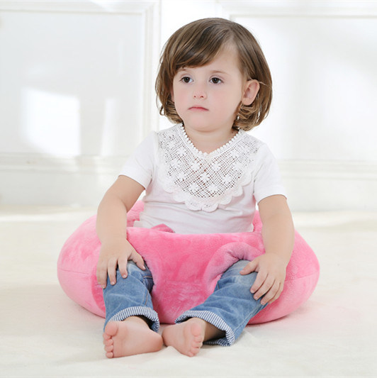 Round Solid Color Handmade Baby Pillow