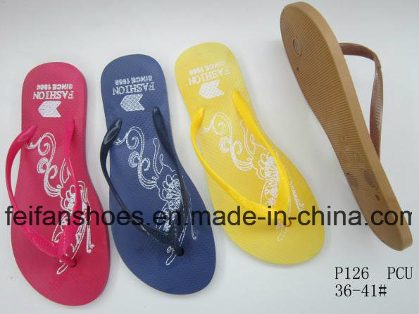 Cheap Women Slippers Colorful Sandals in Bulk for Africa Market (FFLT1017-01)