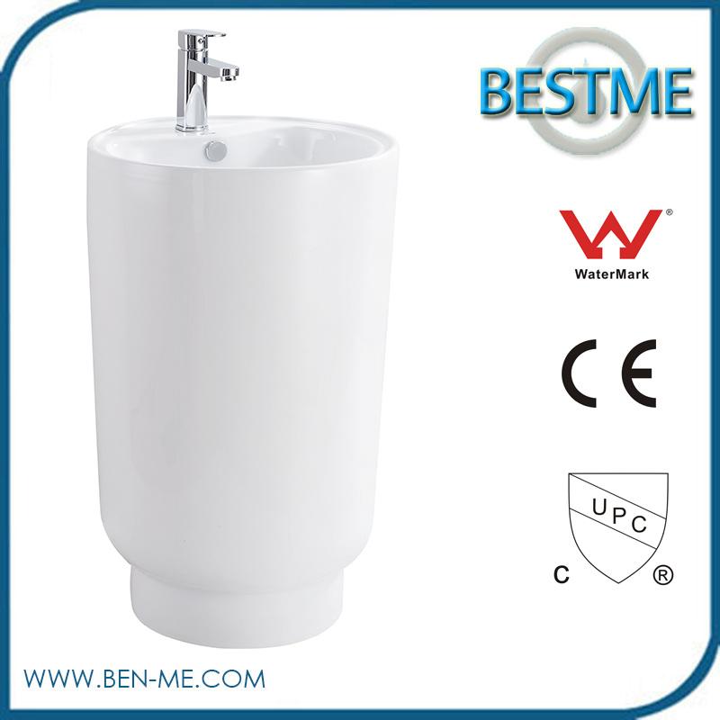 Latest New Type Pedestal Ceramic Vanity Wash Basin