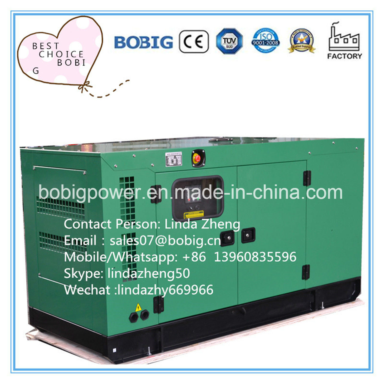 China Industrial Home Canopy Without Canopy 20kw 25kVA Yangdong