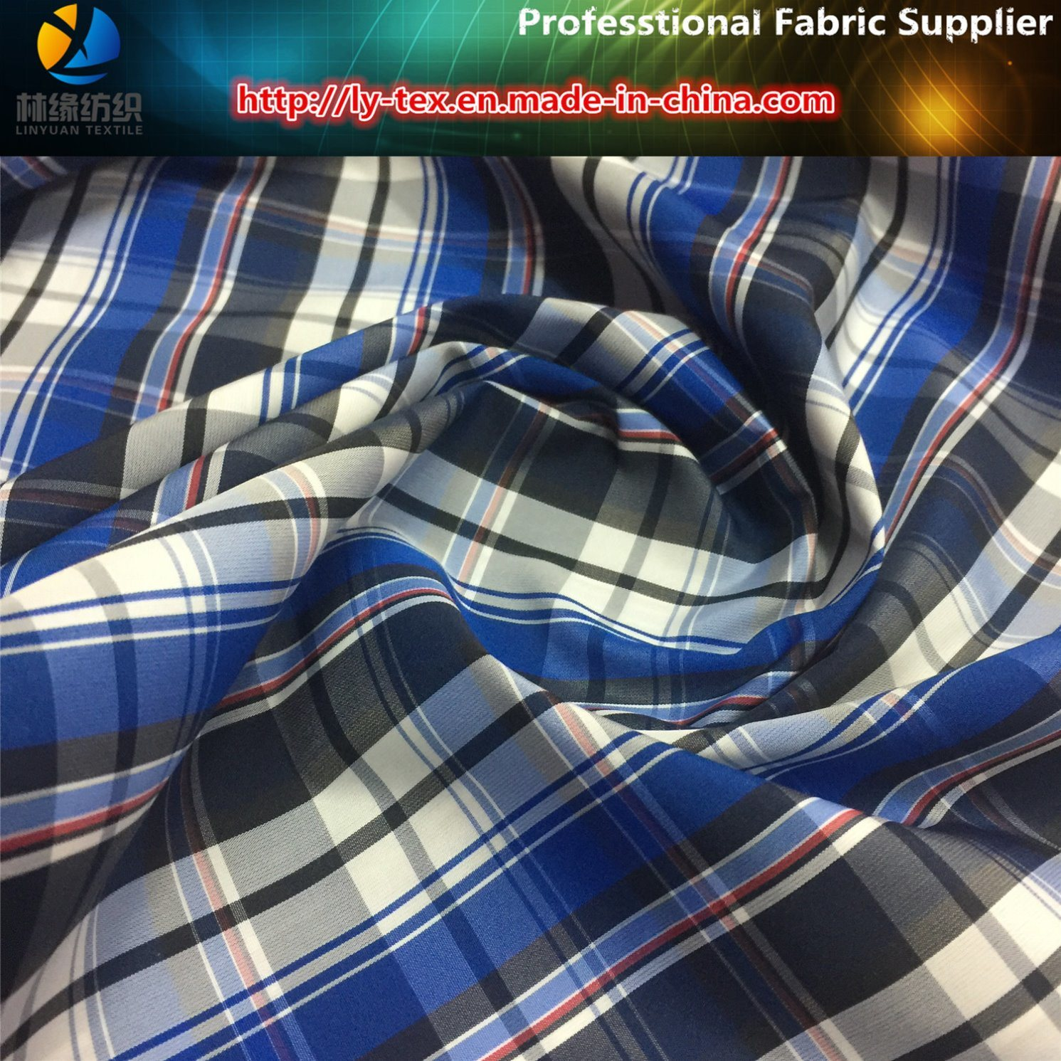 Polyester Plain Yarn Dyed Fabric, Jacket Woven Textile with Waterproof (YD1050)