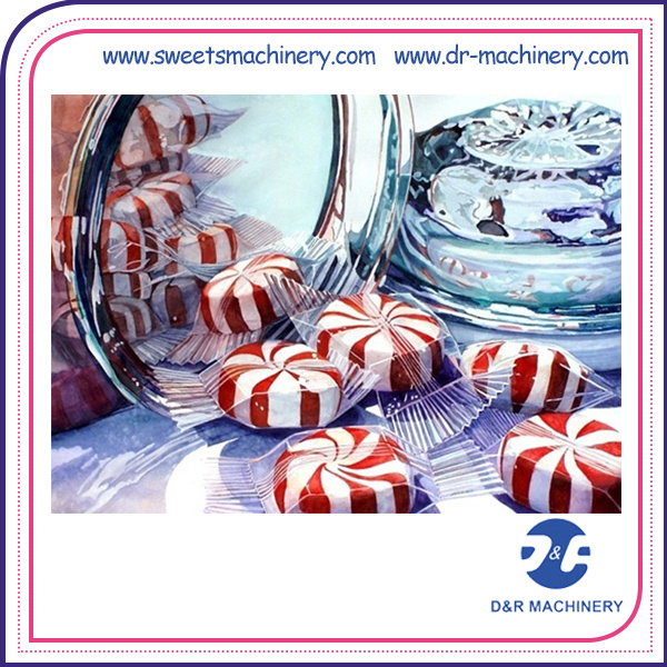 Practical Double Colour Hard Candy Production Line Making Machine