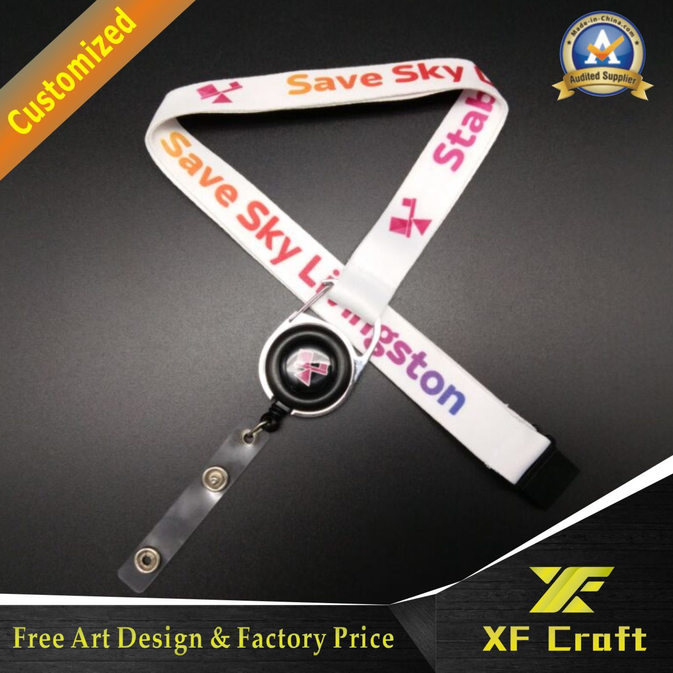 Promotional Gift Printed Neck Lanyard Custom&Polyester Printing Lanyards China Wholesale (XF-LY05)