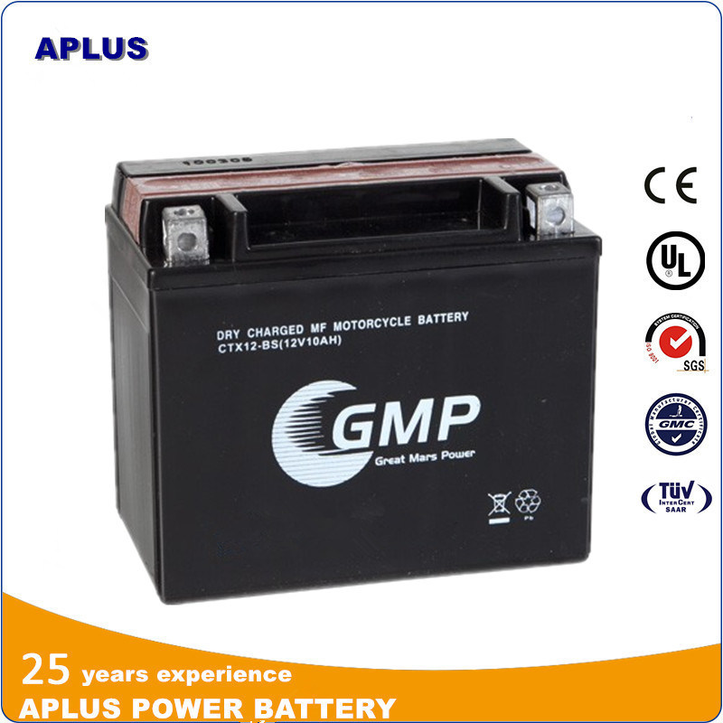 Wholesale Ctx12-Bx 12V10ah Dry Charged Mf Lead Acid Motorcycle Battery